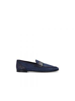 Loafers zamszowe - czarne Dolce And Gabbana