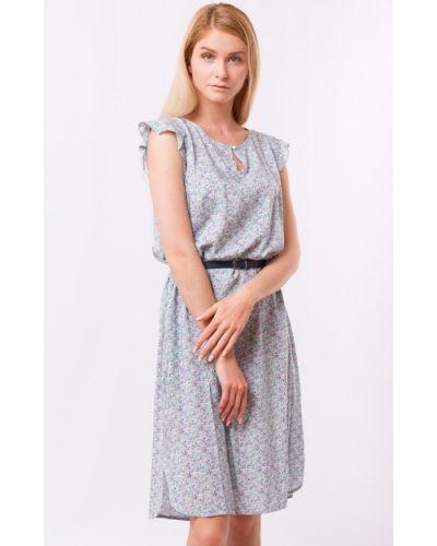 Серое платье из вискозы Finn Flare
