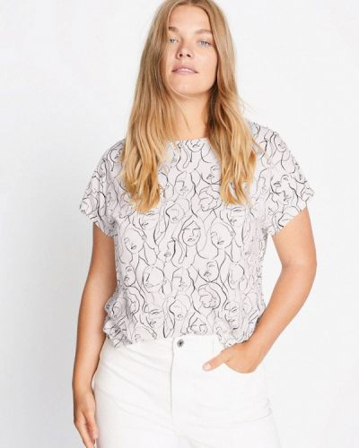 С рукавами белая футболка Violeta By Mango