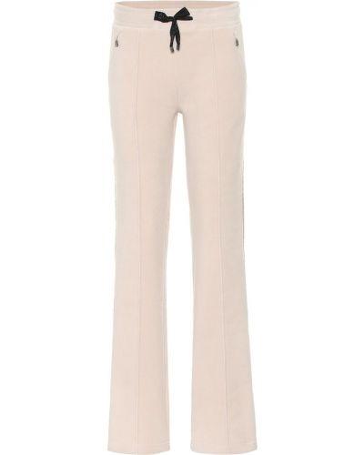 Прямые флисовые бежевые брюки Bogner