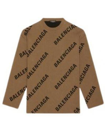 Brązowy sweter Balenciaga