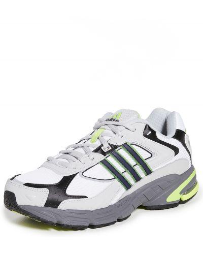Кружевные белые кроссовки на шнурках Adidas
