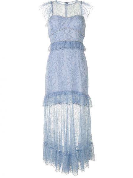 Нейлоновое платье миди со вставками прозрачное без рукавов Alice Mccall