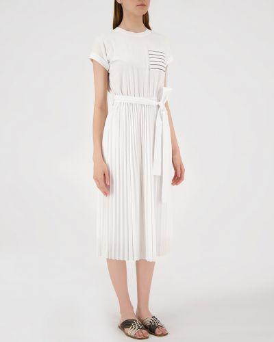 Белое платье миди Brunello Cucinelli