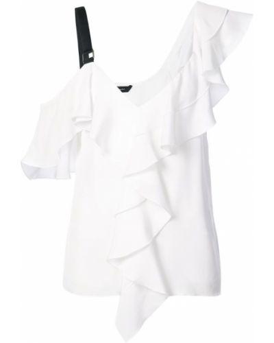 Блузка с открытыми плечами с рюшами асимметричная Proenza Schouler