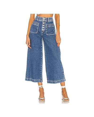 Свободные брюки с накладными карманами с карманами Free People