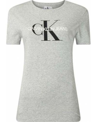 Bawełna bawełna koszula jeansowa z dekoltem okrągły Calvin Klein Jeans