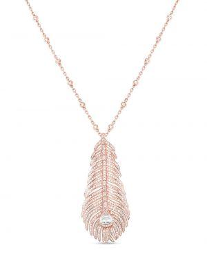 Różowy złoty naszyjnik z diamentem Boucheron