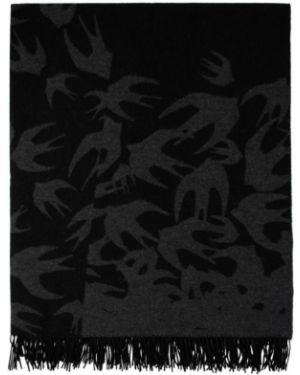Пончо шерстяное черный Mcq Alexander Mcqueen