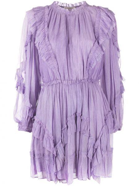 Платье с поясом с прозрачными рукавами с оборками Ulla Johnson