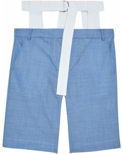 Синие шерстяные шорты Tibi
