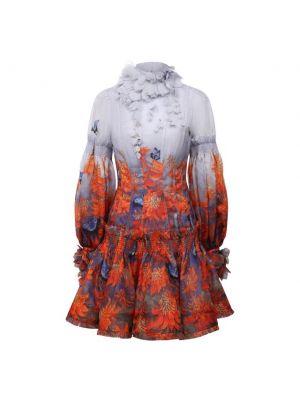 Оранжевое хлопковое платье с подкладкой Zimmermann