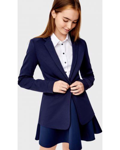 Трикотажный пиджак - синий O'stin