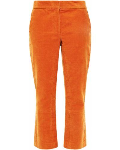 Укороченные палаццо - оранжевые Tory Burch