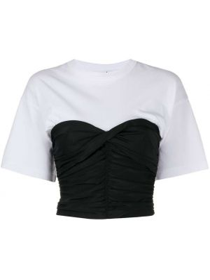 Хлопковая футболка - белая T By Alexander Wang