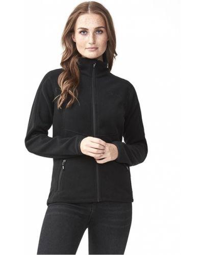 Флисовая черная спортивная куртка на молнии Tenson