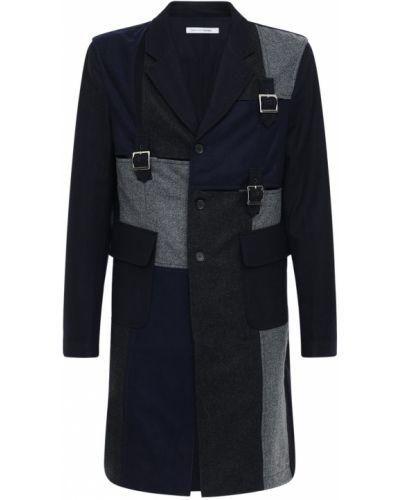 Płaszcz wełniany klamry Comme Des Garcons Shirt