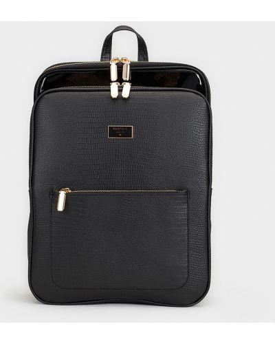 Кожаный рюкзак с подкладкой черный Parfois
