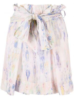 Розовая с завышенной талией юбка мини с завязками Iro