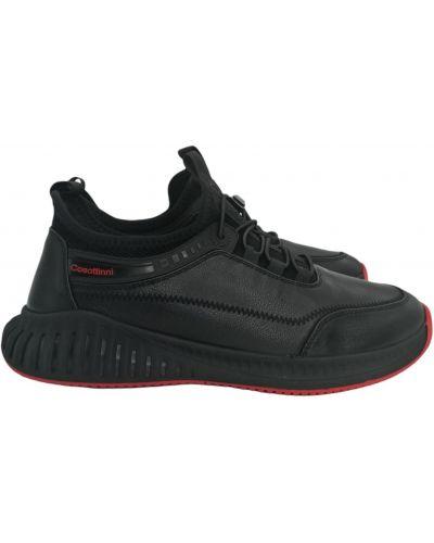 Кожаные кроссовки - черные Cosottinni