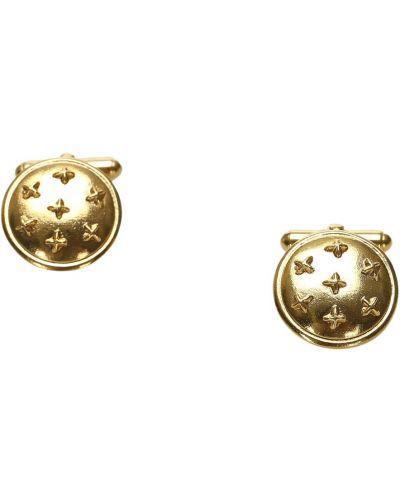 Złote spinki do mankietów vintage Chanel Vintage