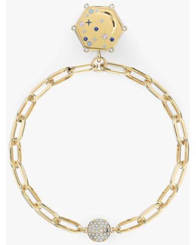 Золотой браслет золотой Swarovski