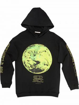Bluza z nadrukiem z printem - czarna Christopher Kane