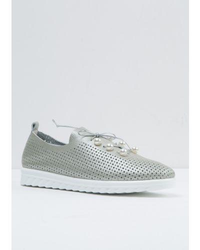 Кожаные туфли серебряный Vensi