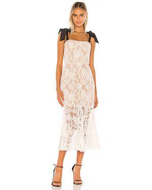Платье миди через плечо ажурное Bronx And Banco