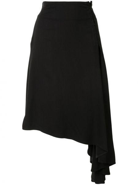 Юбка миди с завышенной талией - черная Ann Demeulemeester