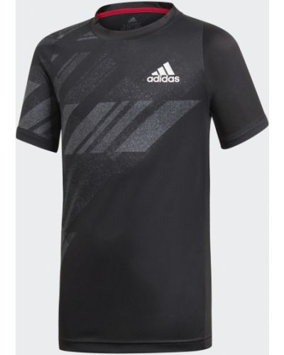 Теннисная черная спортивная футболка Adidas
