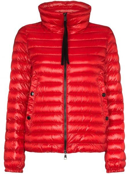 Красная куртка на молнии двусторонняя с манжетами Moncler