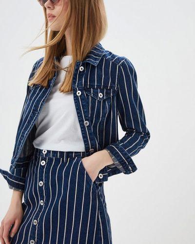 Джинсовая куртка весенняя синий Q/s Designed By