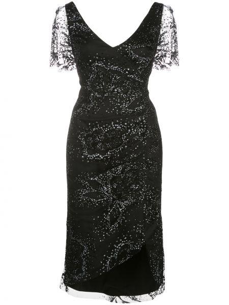 Платье мини миди с V-образным вырезом Marchesa Notte