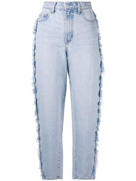 Хлопковые синие широкие джинсы на пуговицах свободного кроя Nobody Denim