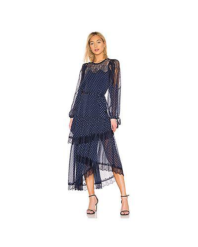 Платье миди платье-комбинация на пуговицах Bcbgmaxazria