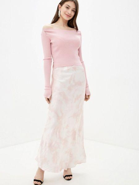 Джинсовый костюм розовый юбочный Guess Jeans