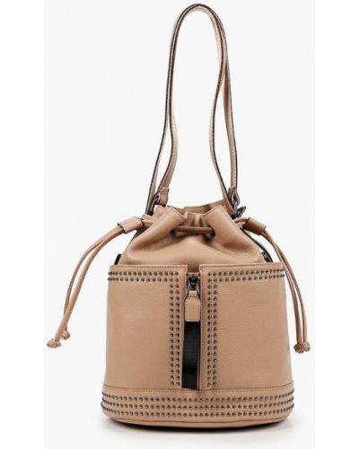 Бежевый городской рюкзак из натуральной кожи Marco Bonne