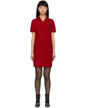 Платье с вышивкой в полоску Gucci