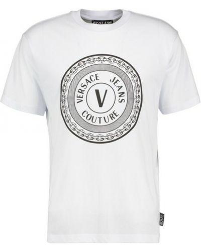 Podkoszulka z printem - biała Versace Jeans Couture