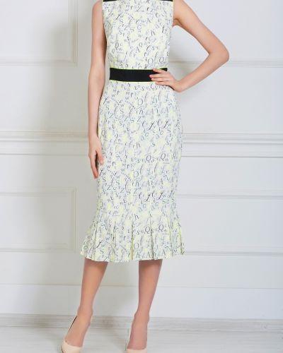 Брендовое белое платье с поясом Olympia Le Tan