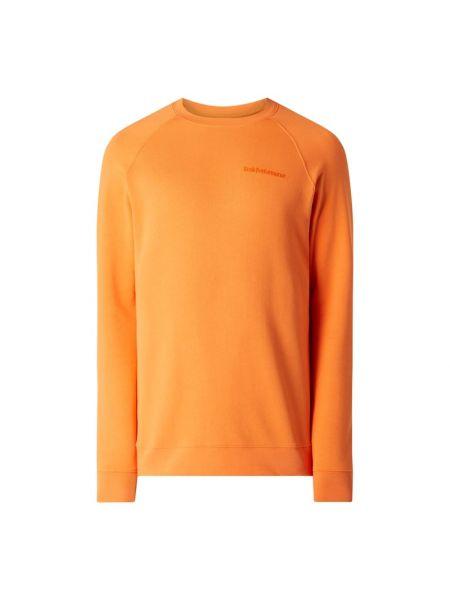 Pomarańczowa bluza bawełniana z raglanowymi rękawami Peak Performance