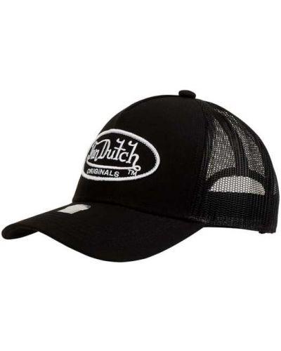 Czarna czapka bawełniana Von Dutch