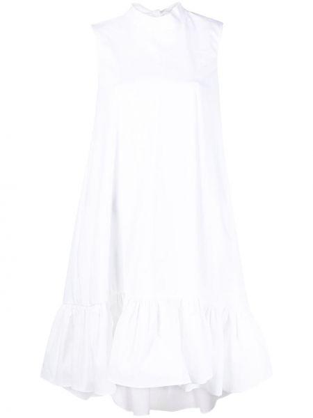 Белое платье трапеция без рукавов Red Valentino