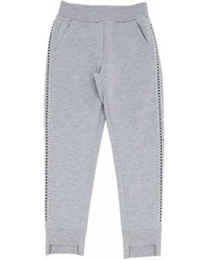 Спортивные брюки со стразами с карманами Monnalisa