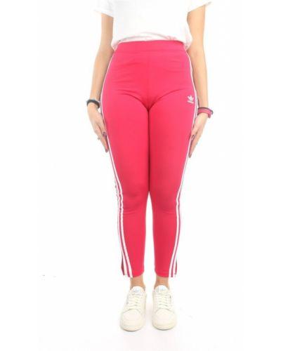 Różowe legginsy Adidas