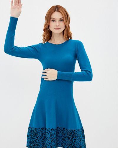 Синее вязаное платье Rinascimento