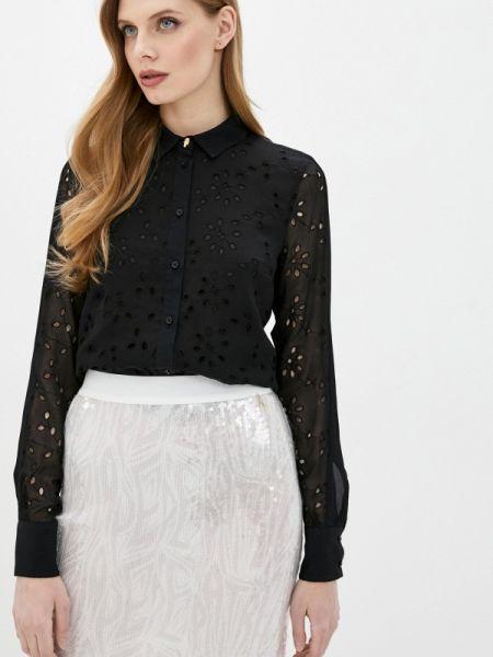 Черная блузка с поясом Cavalli Class