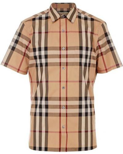 Рубашка с короткими рукавами в клетку хлопковая Burberry