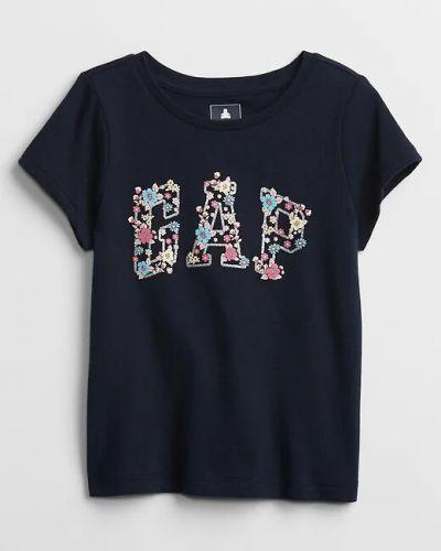 Хлопковая синяя футболка с короткими рукавами Gap